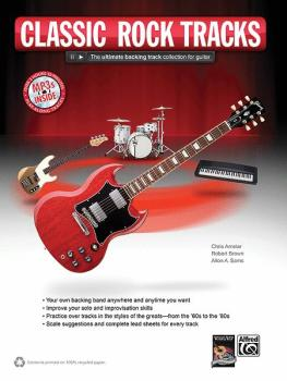 Classic Rock Tracks: The Ultimate Backing Track Collection for Guitar (AL-00-38891)