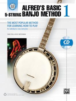 Alfred's Basic 5-String Banjo Method 1: The Most Popular Method for Le (AL-00-38922)