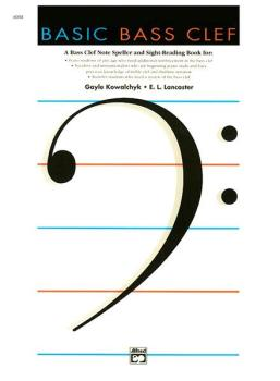 Basic Bass Clef: A Bass Clef Note Speller and Sight-Reading Book (AL-00-6004)