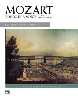 Mozart: Rondo in A Minor, K. 511 (AL-00-6348)