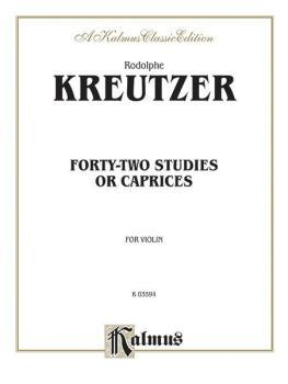 Forty-two Studies or Caprices (AL-00-K03594)