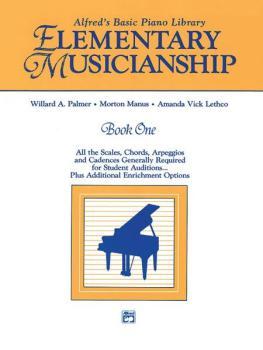 Alfred's Basic Piano Library Musicianship Book One: Elementary Musicia (AL-00-2643)