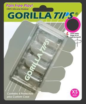 Gorilla Tips Fingertip Protectors Clear Size Extra Small (AL-98-GT100CLR)