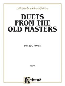 Duets from the Old Masters for Two Horns (from Schubert, Telemann, Tur (AL-00-K04710)