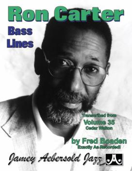 Ron Carter Bass Lines, Vol. 35 (Transcribed from <i>Volume 35 Cedar Wa (AL-24-RC3)