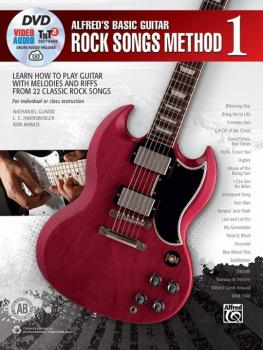 Alfred's Basic Guitar Rock Songs Method 1: Learn How to Play Guitar wi (AL-00-46038)