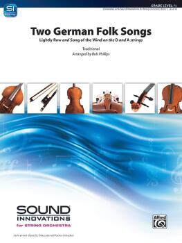 """Two German Folk Songs: """"Lightly Row"""" and """"Song of the Wind"""" on the D a (AL-00-49049)"""